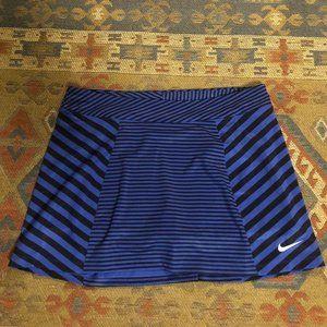 Nike Golf Skort Blue and Black Stripe XL